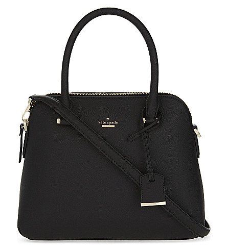 KATE SPADE NEW YORK Cameron Street Maise leather shoulder bag (Black