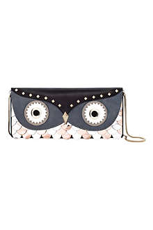 KATE SPADE Wise Owl leather clutch