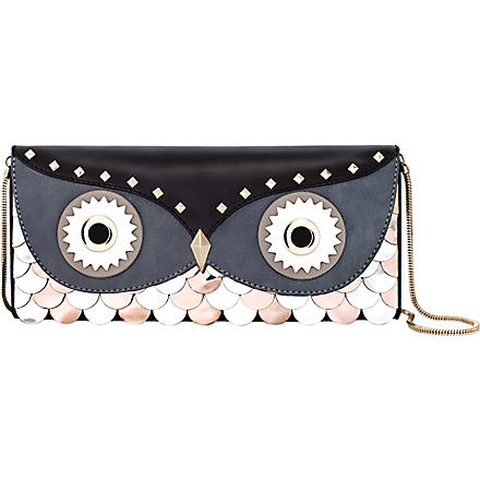 KATE SPADE Wise Owl leather clutch (Multi