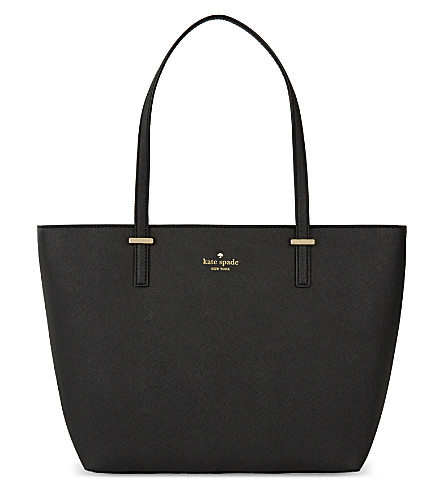 KATE SPADE NEW YORK Cedar Street Harmony small leather tote (Black