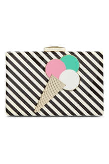 KATE SPADE Ice cream patent clutch