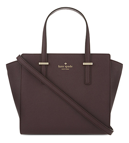 KATE SPADE NEW YORK Hayden Cedar Street small leather tote (Mahogany