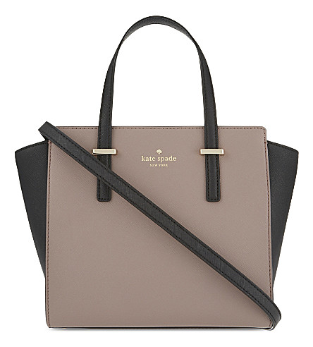 KATE SPADE NEW YORK Hayden Cedar Street small leather tote (Porchni/blk