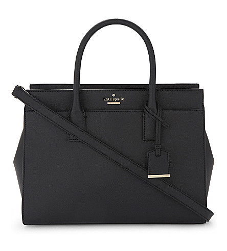 KATE SPADE NEW YORK Cameron Street Candace leather satchel (Black