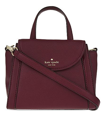KATE SPADE NEW YORK Adrien leather shoulder bag (Merlot