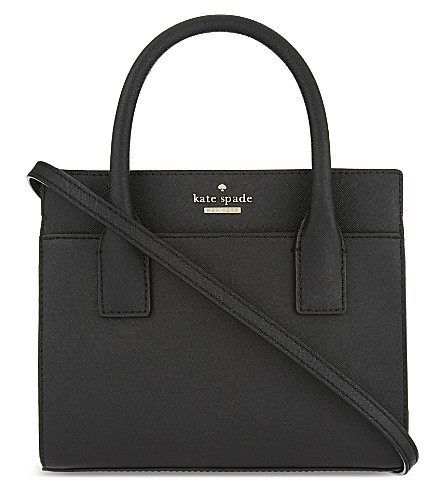 KATE SPADE NEW YORK Cameron Street mini Candace leather shoulder bag (Black