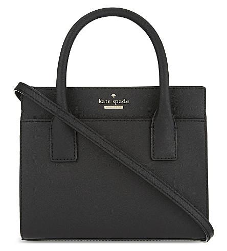 KATE SPADE NEW YORK Cameron Street mini Candace leather shoulder bag (Black