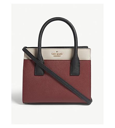 KATE SPADE NEW YORK Cameron Street mini Candace leather shoulder bag (Sienna+multi