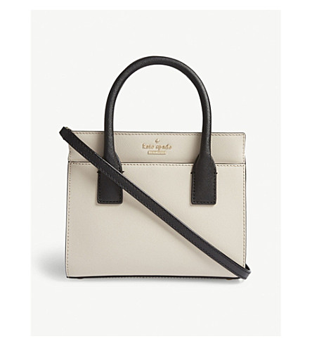 KATE SPADE NEW YORK Cameron Street mini Candace leather shoulder bag (Tusk/black