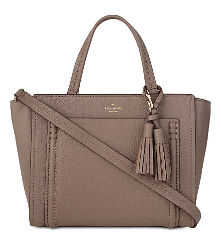 KATE SPADE NEW YORK Orchard Street Dillon pebbled leather tote (Porchini