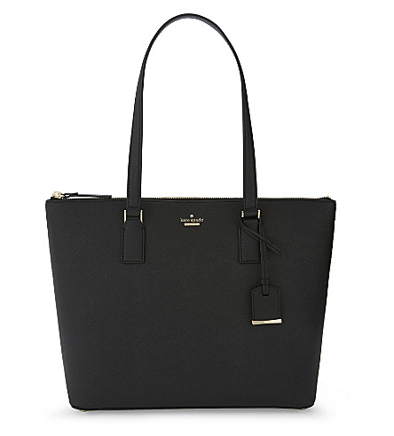 KATE SPADE NEW YORK Cameron Street Lucie leather tote (Black
