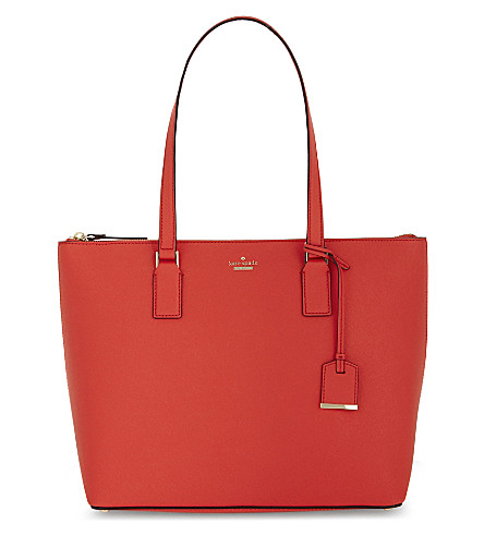 KATE SPADE NEW YORK Cameron Street Lucie leather tote (Prickly pear