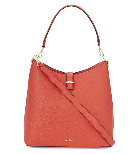 KATE SPADE NEW YORK Leonard Street Mariel leather shoulder bag (Apple+jelly