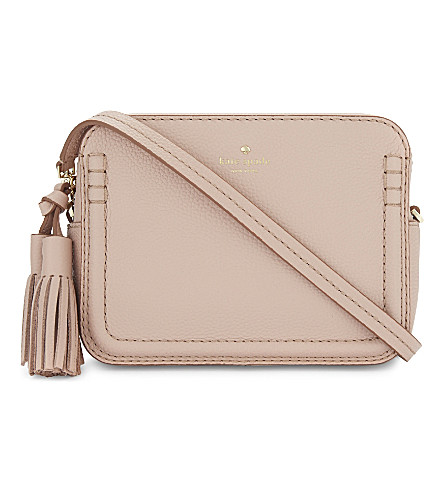 KATE SPADE NEW YORK Orchard Street leather Arla cross-body bag (Au naturel