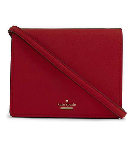KATE SPADE NEW YORK Cameron street Dody leather cross-body (Rooster++red