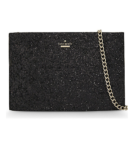 KATE SPADE NEW YORK Cameron street sima leather clutch (Black multi