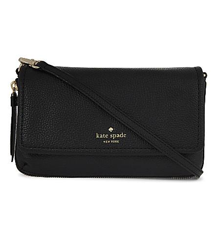 KATE SPADE NEW YORK Cobble Hill Taryn grained leather cross-body bag (Black