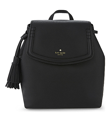 KATE SPADE NEW YORK Orchard Street selby leather backpack (Black