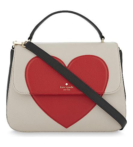 KATE SPADE NEW YORK Be Mine Heart Alexya leather shoulder bag (Multi