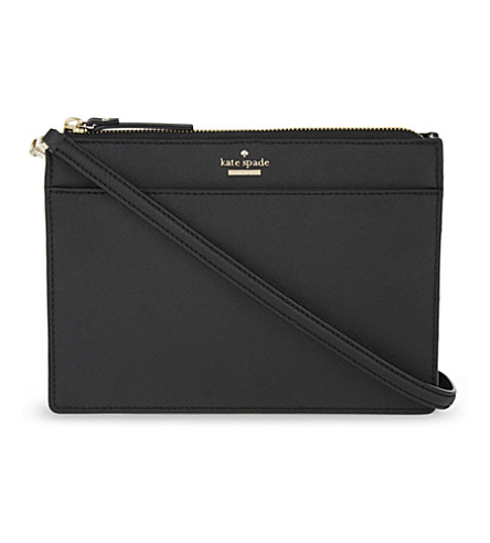 KATE SPADE NEW YORK Cameron Street Clarise Saffiano leather cross-body bag (Black