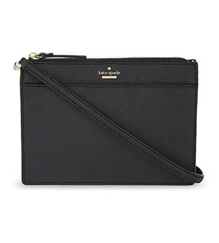 KATE SPADE NEW YORK Cameron Street Clarise Saffiano leather cross-body bag (Black