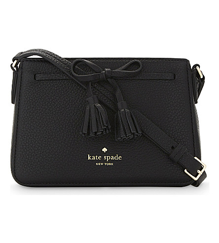 KATE SPADE NEW YORK Hayes Street Eniko leather cross-body bag (Black