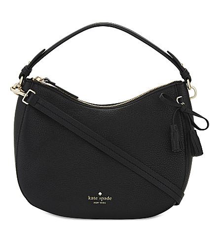 KATE SPADE NEW YORK Hayes Street Aiden leather shoulder bag (Black