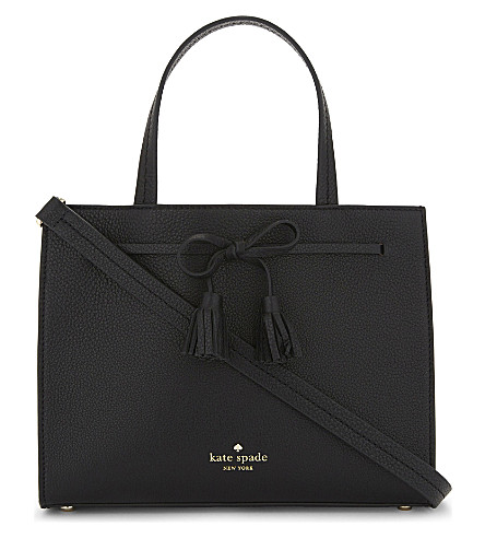 KATE SPADE NEW YORK Hayes Street Isobel leather shoulder bag (Black