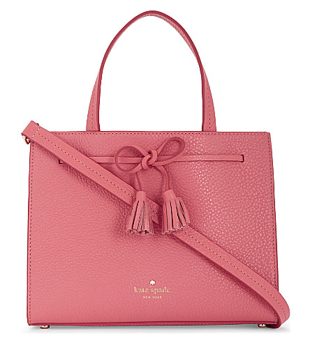 KATE SPADE NEW YORK Hayes Street Isobel leather shoulder bag (Warm guava
