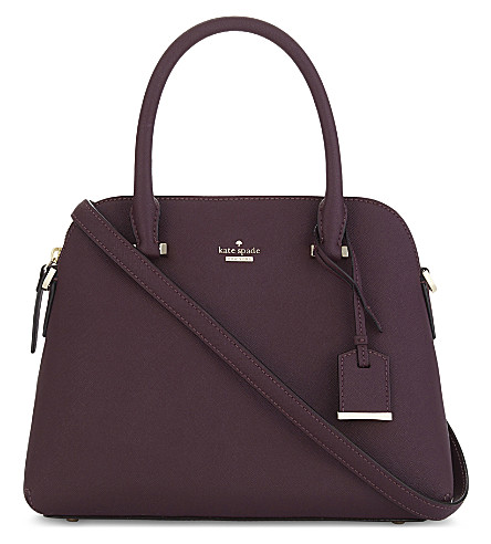 KATE SPADE NEW YORK Cameron Street Maise leather shoulder bag (Deep+plum