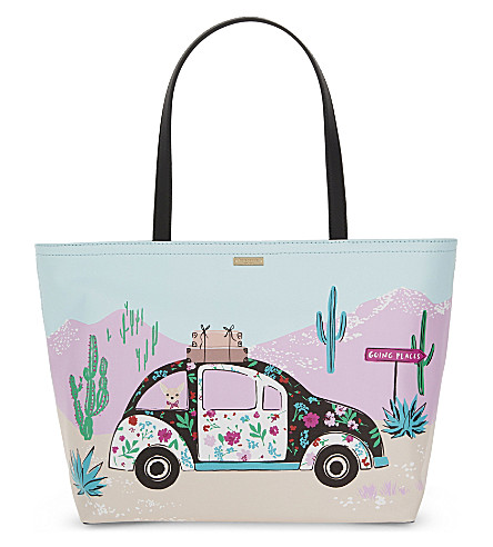 KATE SPADE NEW YORK Scenic Route Car Francis canvas tote (Multi
