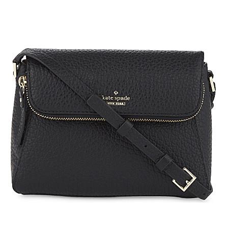 KATE SPADE NEW YORK Carter Street Berrin leather shoulder bag (Black