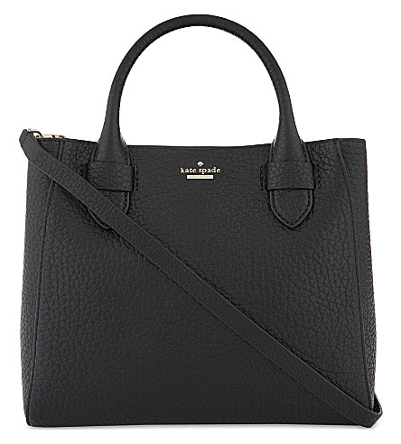 KATE SPADE NEW YORK Carter Street Devlin grained leather shoulder bag (Black