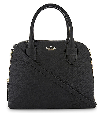 KATE SPADE NEW YORK Small Ashleigh grained leather shoulder bag (Black