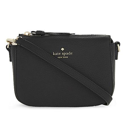 KATE SPADE NEW YORK Daniels Drive Wendi leather cross-body bag (Black