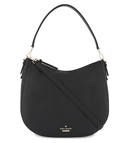 KATE SPADE NEW YORK Jackson Street Mylie leather shoulder bag (Black