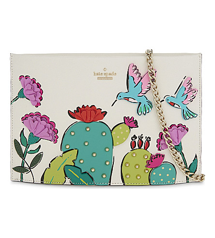 KATE SPADE NEW YORK Scenic Route Cactus Sima leather clutch (Multi