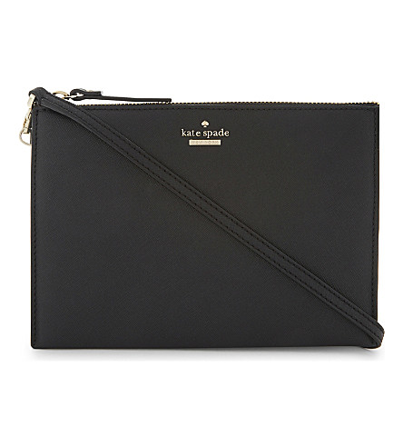 KATE SPADE NEW YORK Cameron St Dilon leather cross-body bag (Black