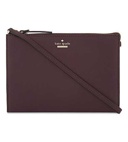 KATE SPADE NEW YORK Cameron St Dilon leather cross-body bag (Deep+plum