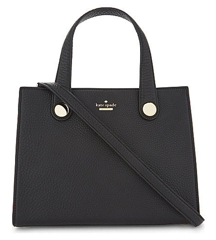 KATE SPADE NEW YORK Stewart Street Little Joy grained leather shoulder bag (Black
