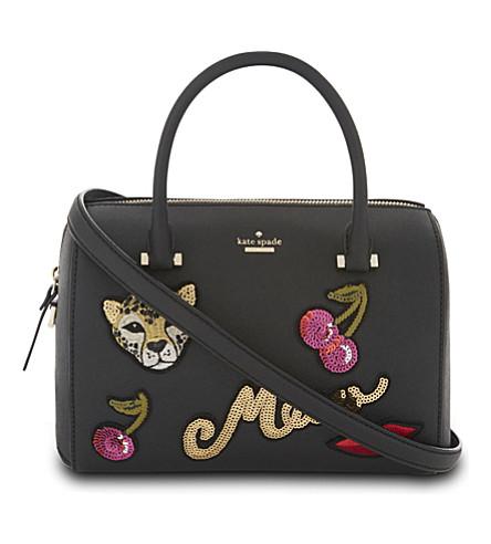 KATE SPADE NEW YORK Ma Chérie embellished large Lane leather shoulder bag (Multi