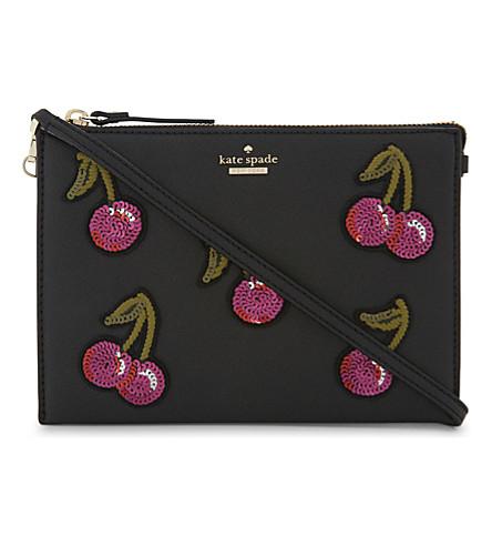 KATE SPADE NEW YORK Cherry leather cross-body bag (Multi