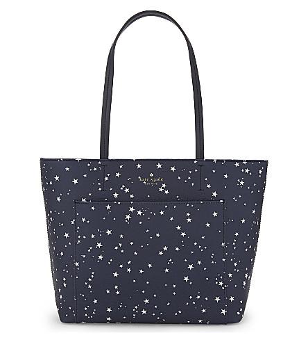 KATE SPADE NEW YORK Hyde Lane Night Sky Riley tote bag (Rich+navy+multi