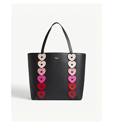 KATE SPADE NEW YORK 'Yours Truly' leather tote (Black+multi