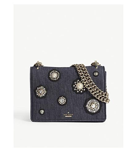 KATE SPADE NEW YORK Cameron Street Marcie denim shoulder bag (Port+blue