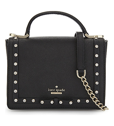 KATE SPADE NEW YORK Cameron Street Jewelled Hope cross-body bag (Black
