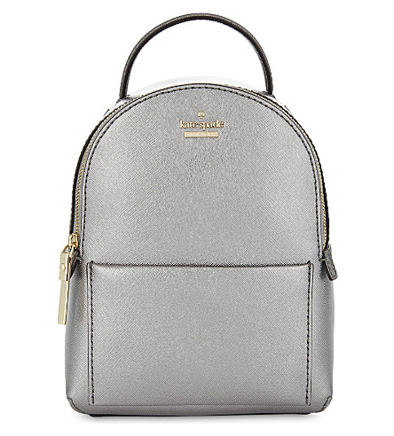 KATE SPADE NEW YORK Cameron Street Merry mini leather backpack (Anthracite