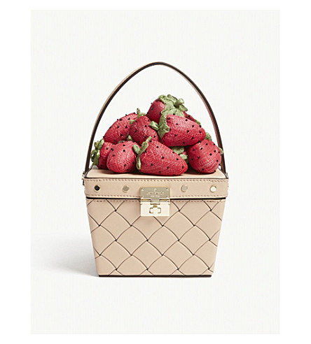 KATE SPADE NEW YORK Picnic Perfect leather basket (Cashew