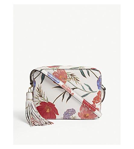 KATE SPADE NEW YORK Kingston Drive Arla floral leather cross-body bag (Cream+multi