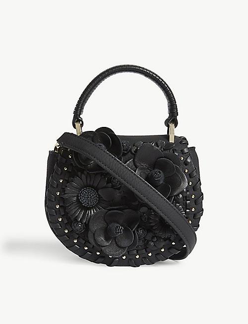KATE SPADE NEW YORK Madison Layden Street Floral Leather Saddle Bag
